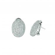 Diamond oval shape earrings