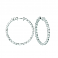 10 Pointer hoop earrings/patented snap lock