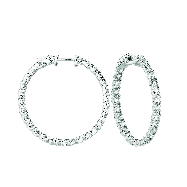 10 Pointer hoop earrings/patented snap lock. Price: $8643.33
