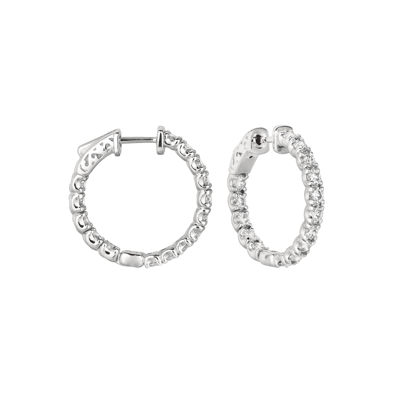 10 Pointer hoop earrings/patented snap lock. Price: $5245.33