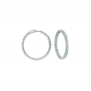 15 Pointer hoop earrings/patented snap lock