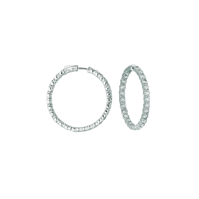 15 Pointer hoop earrings/patented snap lock. Price: $12824.67