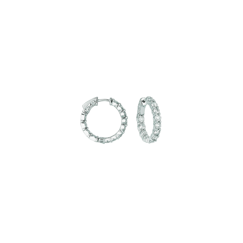 15 Pointer hoop earrings/patented snap lock. Price: $6126.67