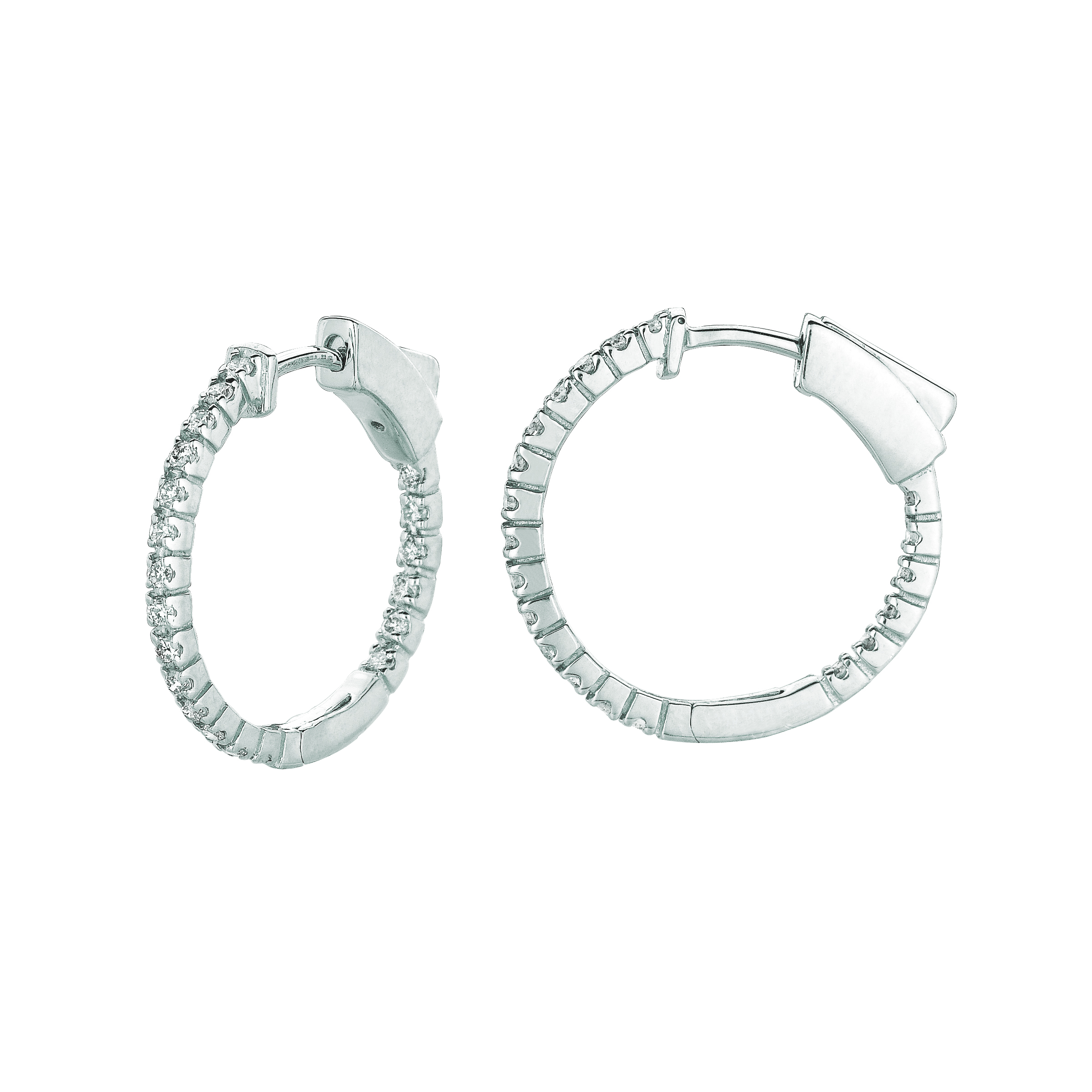 1 Pointer hoop earrings/patented snap lock. Price: $925.33