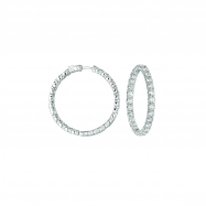 20 Pointer hoop earrings/patented snap lock