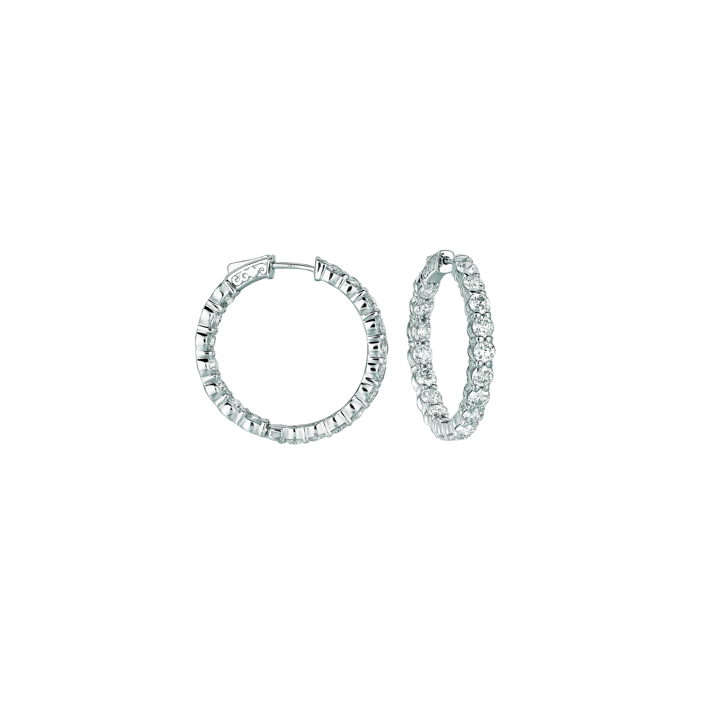 20 Pointer hoop earrings/patented snap lock. Price: $13760.67