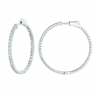 2 Pointer hoop earrings/patented snap lock