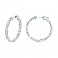 3 Pointer diamond hoop earrings