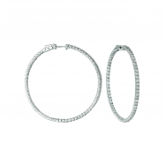 5 Pointer hoop earrings/patented snap lock