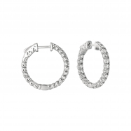 7 Pointer diamond hoop earrings