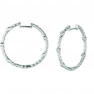 Diamond bezel set hoop earrings