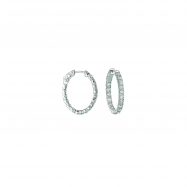 10 Pointer oval hoop earrings