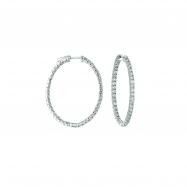 7 Pointer oval hoop earrings