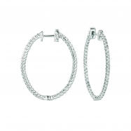 2 Pointer oval hoop earrings