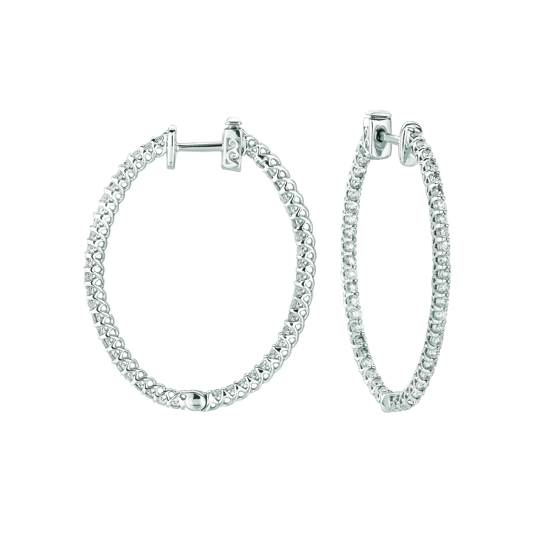 2 Pointer oval hoop earrings . Price: $2926.67
