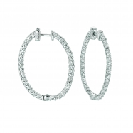 5 Pointer oval hoop earrings