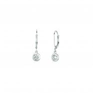 Diamond bezel set earrings