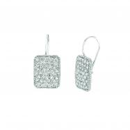 Diamond rectangular shape earrings