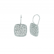 Diamond square shape earrings