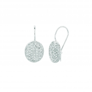 Diamond oval shape earrings