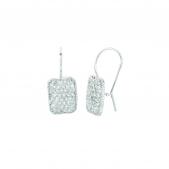 Diamond rectangular shape earrings