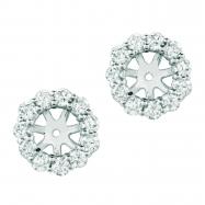 8mm diamond earring jackets