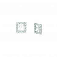 8mm square diamond earring jackets