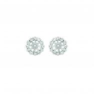 8MM Diamond jacket earrings