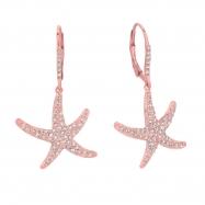 Diamond starfish earrings