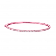 Diamond Bangle, 14K Pink Gold