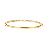 Diamond bangle, 14K yellow gold
