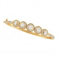 Designer Diamond Bangle Yellow Gold