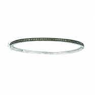 Champagne diamond milgrain bangle