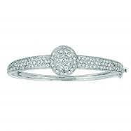 Diamond oval bangle