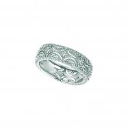 Diamond Eternity Band, 14K White Gold Ring