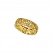 Diamond Eternity Band, 14K Yellow Gold Ring