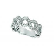 Diamond Swirl Ring, 14K White Gold