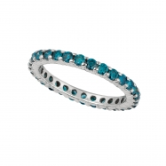 Blue diamond eternity ring