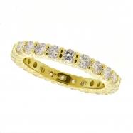 Yellow gold eternity diamond ring