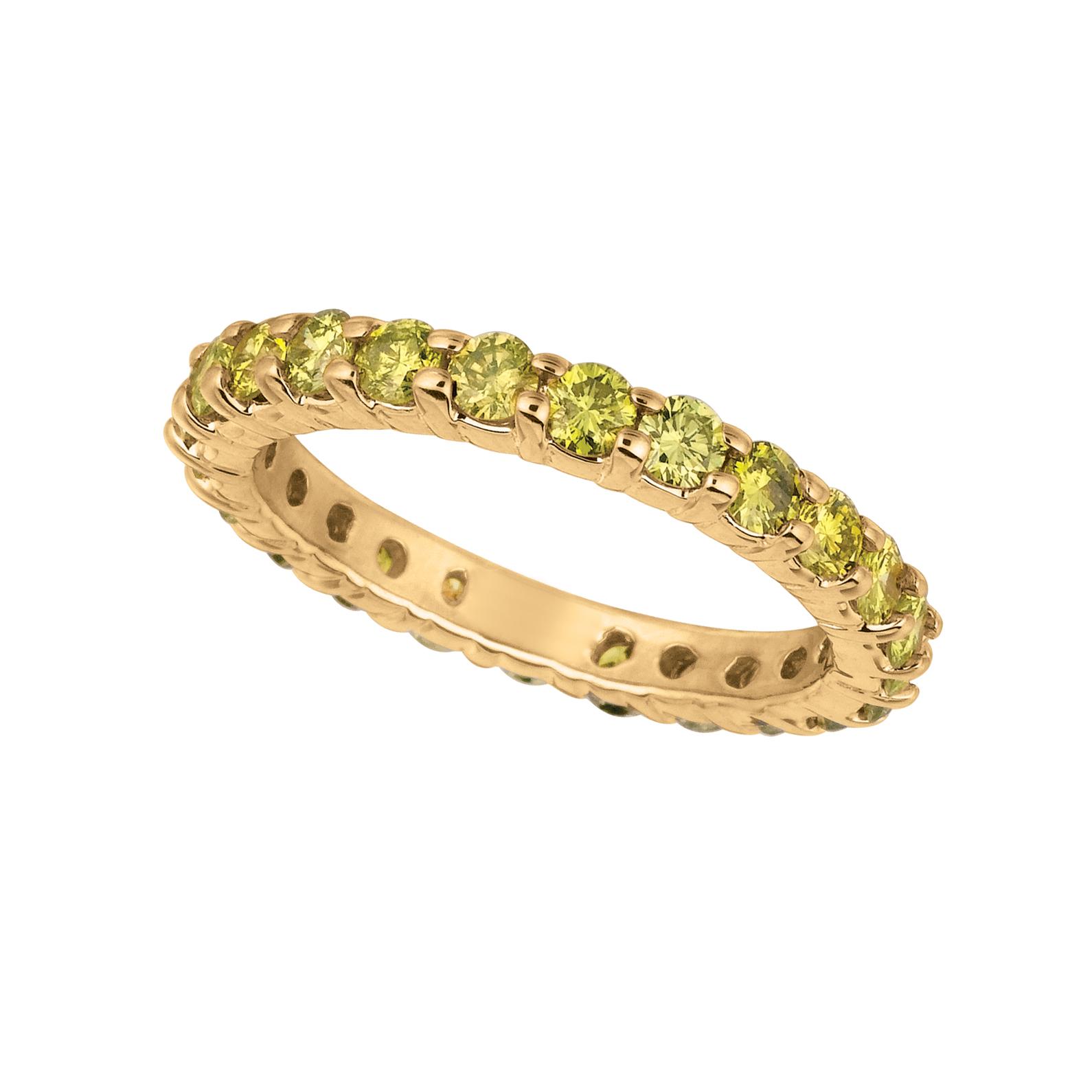 Yellow diamond eternity band. Price: $2694.00