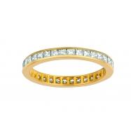 Princess cut eternity diamond ring