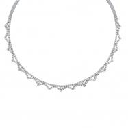 Diamond Necklace, 14K White Gold