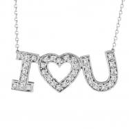 Diamond  I Love You Pendant Necklace