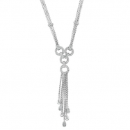 Designer Diamond Necklace 14K White Gold