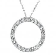 Diamond Circle Necklace Pendant