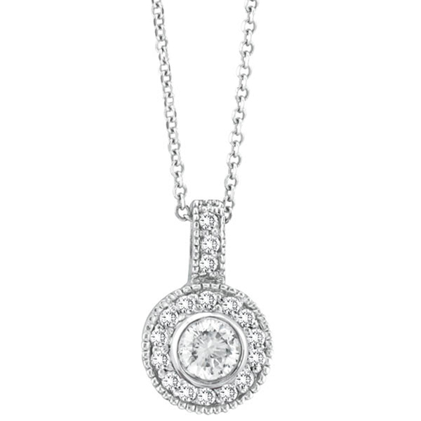Bezel Diamond Pendant Neckalce. Price: $2407.33