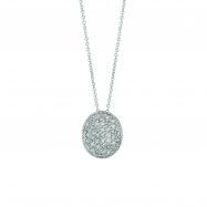 Diamond oval necklace
