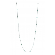 5 pointer 14 section 18 blue diamond necklace