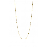 5 pointer 14 section 18 yellow diamond necklace