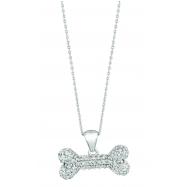 Diamond bone necklace